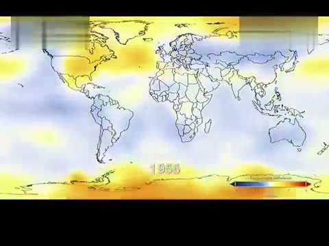 震惊!NASA制作26秒短片记录120年全球温度变化 - YouTube