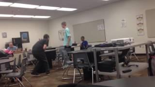 Crazy homeless kid assaults boy over backpack theft!