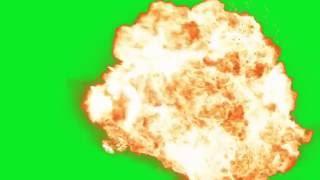 Explosion Green Screen (Chroma Key)