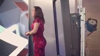 Raquel Méndez detras de camaras 30 de mayo 2018