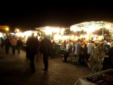 夜のフナ広場2/2@マラケシュ(モロッコ)Morocco