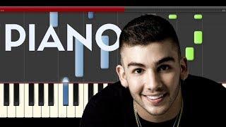 Manuel Turizo Una Lady como Tu Piano Midi tutorial Sheet app Cover Karaoke
