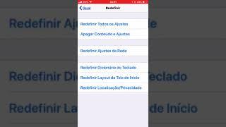 Redefinir ajustes de rede no iPhone width=