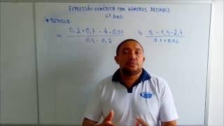 Video #03 - Expressão Numérica com Números Decimais