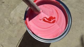Tinta de parede pink com bisnaga corante