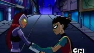Robin meets Starfire