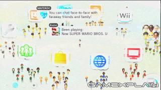 Wii U OS: Home Screen: Interacting with Mii Plaza
