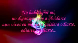 Chili Fernandez -Quisiera Odiarte (Letra)