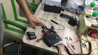 pke car alarm system smart key anti-theft feature testing by cardot