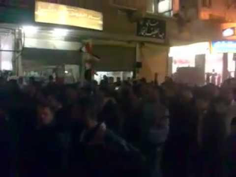 suriye şam - kisve ilçesinde protestolar