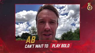 AB de Villiers is itching to #PlayBold at Bengaluru! | VIVO IPL 2018