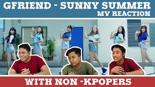 GFRIEND - SUNNY SUMMER MV REACTION WITH MY NON KPOPER FRIENDS (INDONESIAN REACTION) width=