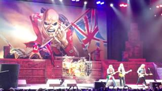 Iron Maiden The Trooper Live at Oracle Arena Oakland CA 7/5/2017