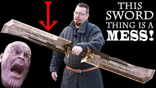 So much WRONG with THANOS DOUBLE BLADED SWORD from Avengers Endgame