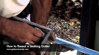 How to Reseal a Leaking Gutter