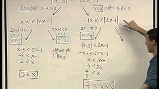 משוואות ואי-שיוויונות - 10 - אי שיוויונות עם כמה ערכים מוחלטים