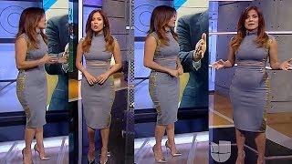 Adriana Monsalve con Vestido Gris