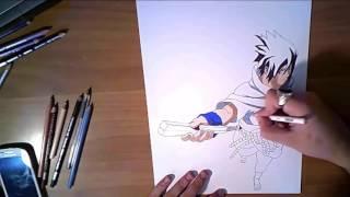 Speed drawing Sasuke Uchiha 3D.