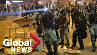Hong Kong police deployed in Kowloon to disperse protesters rallying in Kowloon