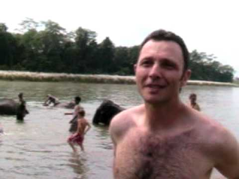 Nepal 2008 – Eddie: Bathing with the Elephants