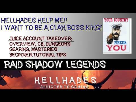 RAID SHADOW LEGENDS | ACCOUNT REVIEW & SUPPORT - JUICE, NM CB, DUNGEONS, GEARING, GUIDES. TIMESTAMPS