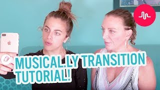 MUSICAL.LY TRANSITION TUTORIAL | Baby Ariel & Sharone