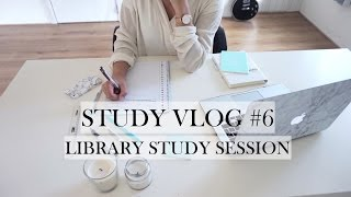 STUDY VLOG #6 - Library Study Session