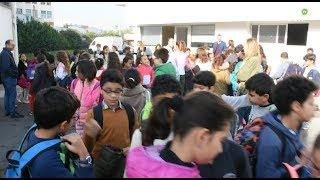 Les élèves de l'école Juan Ramón Jiménez en visite aux «Imprimeries du Matin»