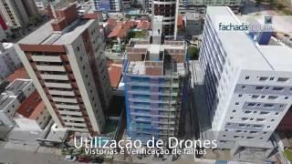 Vistoria predial e das fachadas com Drone é com a Fachada Segura! www.fachadasegura.com.br