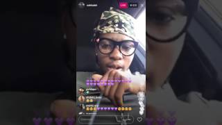 SahBabii Explains What an Amphibian & Mermaid Is On Instagram Live