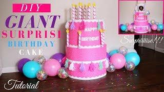 Giant Surprise Birthday Cake Tutorial | DIY Surprise Birthday Party Ideas