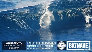 Tyler Hollmer-Cross at Shipsterns 2 - 2016 Billabong Ride of the Year Entry - WSL Big Wave Awards