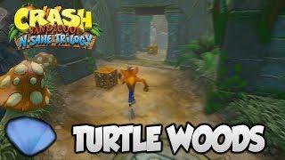 "Crash Bandicoot 2 - ""Turtle Woods"" Blue Gem (PS4 N Sane Trilogy)"
