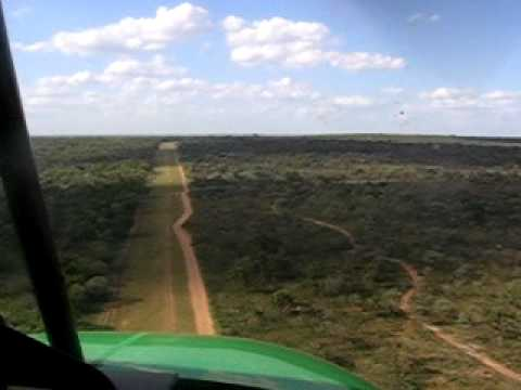 Landing a microlight in Kruger, South Africa