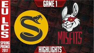Splyce vs Misfits Game 1 Highlights - EU LCS Summer Playoffs 2017 - SPY vs MSF G1