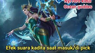Efek suara new hero kadita saat di pick/masuk-mobile legends