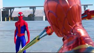 SPIDER-MAN BATTLE! (FULL FIGHT)   FFH vs. SPIDER-VERSE vs. IRON SPIDER vs. RAIMI & MORE!