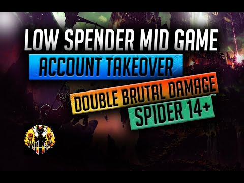 RAID: Shadow Legends | MID GAME LOW SPEND ACC TAKEOVER | HOW TO DOUBLE CB DAMAGE & BEAT SPIDER 14+