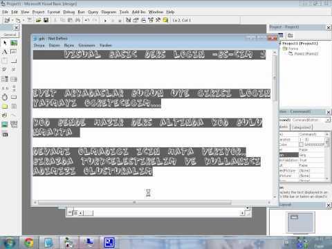 Visual Basic Üye Paneli Yapımı