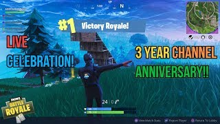 🔴Fortnite 3 Year Channel Anniversary Come Celebrate With Us!!🔥 💎Use Code asmrgaming