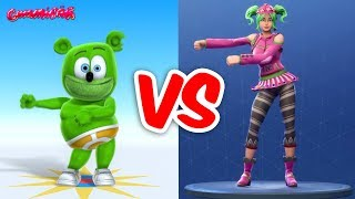 FORTNITE DANCE CHALLENGE with Gummy Bear and Friends - Gummibär The Gummy Bear Song