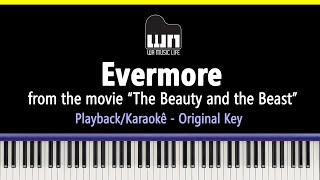 Evermore (Beauty and the Beast) - Piano playback for Cover / Karaoke