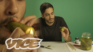 SMOKEABLES: How to Make a Pickle Pipe