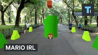 Watch this guy play Mario​ IRL using augmented reality