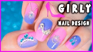 Girly nail art design || NanaSanzMes3