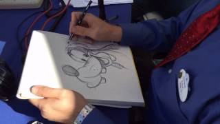 Disney Ink & Paint Artist Eric Scales Draws Santa Goofy