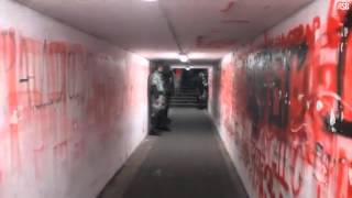 Walking the players tunnel at