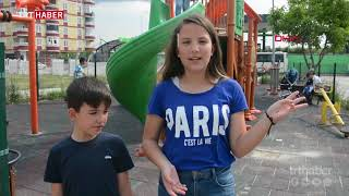 Parkta oyun oynayan çocuğa pitbul saldırdı