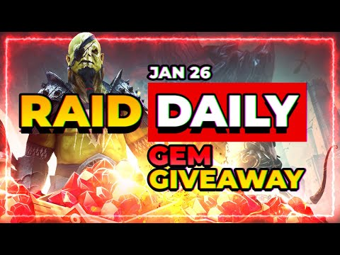 RAID Daily Jan 26 | Gem Giveaway! + Plarium's Weird Video