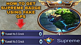 How To Get Supreme Badge Title Using Fake Gps in Mobile Legends (Tagalog)